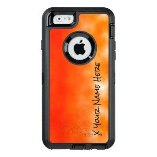 Mirada química anaranjada de neón 2 del resplandor funda OtterBox defender para iPhone 6