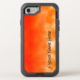 Mirada química anaranjada de neón 2 del resplandor funda OtterBox defender para iPhone 7