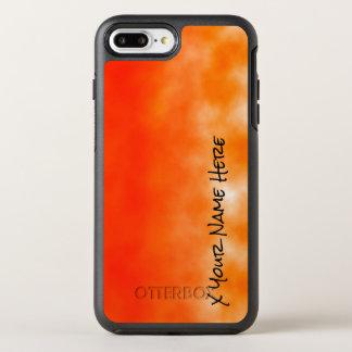 Mirada química anaranjada de neón 2 del resplandor funda OtterBox symmetry para iPhone 7 plus