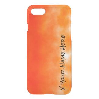 Mirada química anaranjada de neón 2 del resplandor funda para iPhone 7