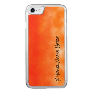 Mirada química anaranjada de neón 2 del resplandor funda para iPhone 7 de carved