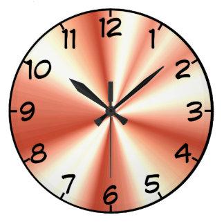 Mirada recolectada oro color de rosa del satén reloj redondo grande