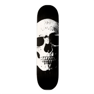 mirada retra del arte pop del cráneo monopatín personalizado