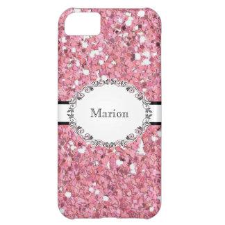 Mirada rosada elegante del brillo personalizada carcasa para iPhone 5C