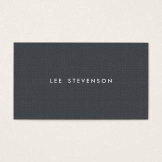 Mirada simple de la textura del gris de carbón de tarjeta de negocios