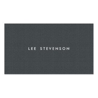 Mirada simple de la textura del gris de carbón de  tarjetas de visita