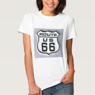 Mirada tridimensional de la ruta 66 camiseta