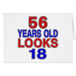 Miradas 18 de 56 años tarjeta de felicitación