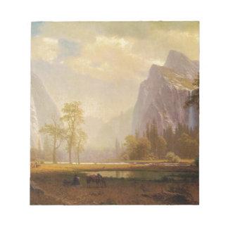 Mirando para arriba el valle de Yosemite - Albert Bloc De Notas