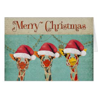 Mirar a escondidas la tarjeta de Navidad de las ji