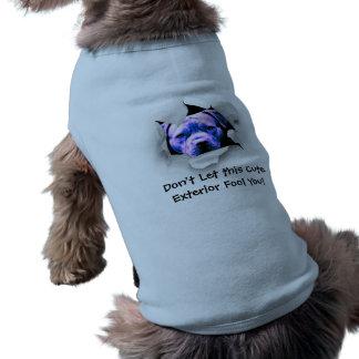 Mire a escondidas un pitbull del abucheo camiseta sin mangas para perro