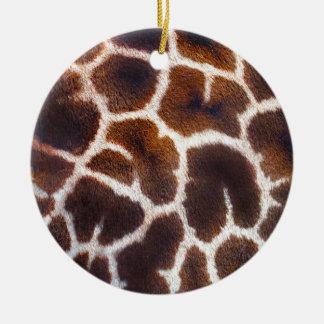 Mire de efecto de piel de la jirafa de África Adorno Navideño Redondo De Cerámica