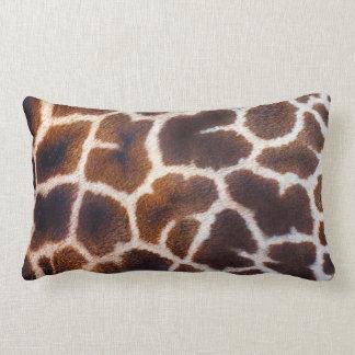 Mire de efecto de piel de la jirafa de África Cojín Lumbar