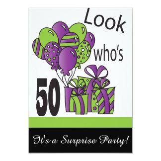 Mire quién es 50.o cumpleaños del 50% el pipe% invitación 12,7 x 17,8 cm
