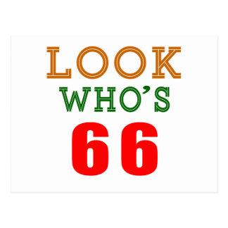 Mire quién es 66 tarjeta postal