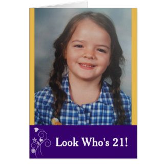 Tarjeta Mire quién es tarjeta de la foto del cumpleaños de