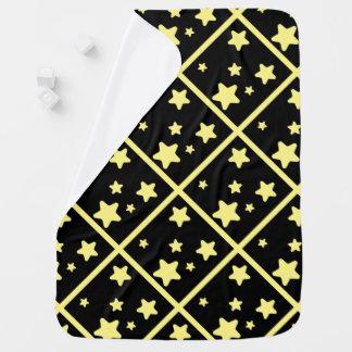 Mire sobre las estrellas amarillas manta de bebé