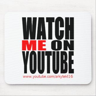 Míreme en YouTube (moderno) Alfombrilla De Ratón