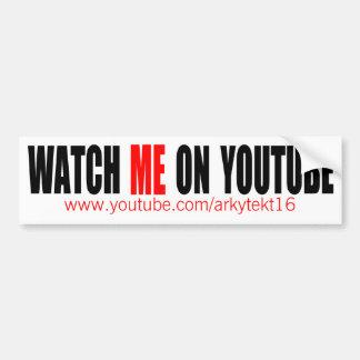 Míreme en YouTube (moderno) Pegatina Para Coche