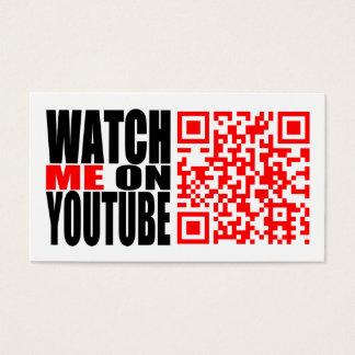 Míreme en YouTube (moderno) Tarjeta De Visita