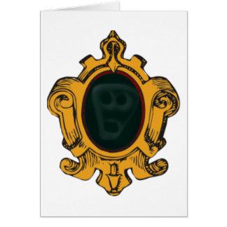 Mirror Wandspiegel mente cara wall ghost face Tarjeta De Felicitación