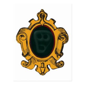 Mirror Wandspiegel mente cara wall ghost face Postales