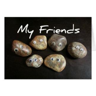 Mis amigos son rocas tarjeta de felicitación
