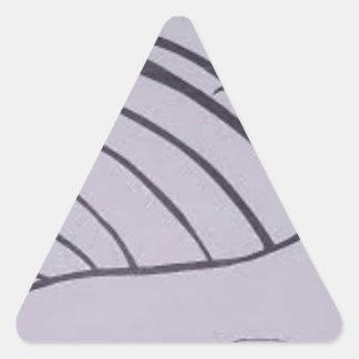 Mis diseños del arte. pegatina triangular