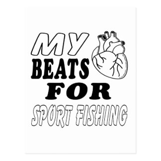 Mis golpes de corazón para la pesca deportiva tarjetas postales