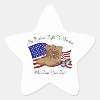 Mis luchas del marido para la libertad pegatina en forma de estrella