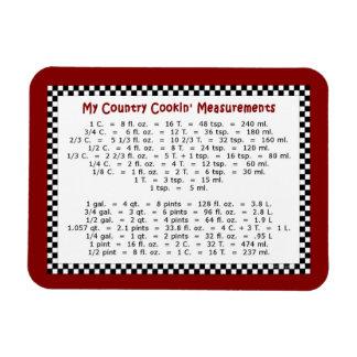 """Mis medidas de Cookin del país 4"""""""" imán de la foto"""