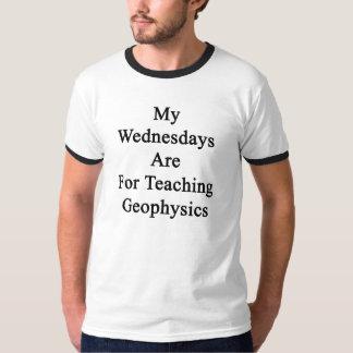 Mis miércoles están para la geofísica de enseñanza camiseta