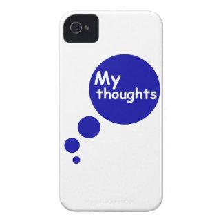 Mis pensamientos carcasa para iPhone 4