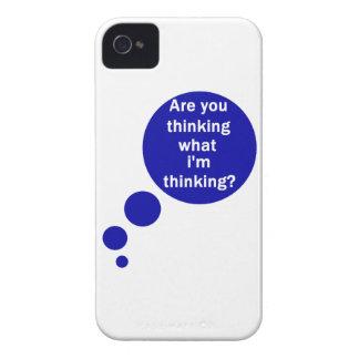 Mis pensamientos iPhone 4 Case-Mate fundas