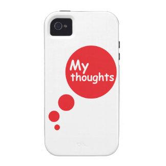 Mis pensamientos iPhone 4 funda