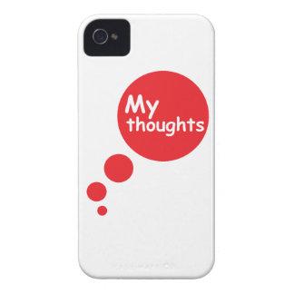 Mis pensamientos iPhone 4 Case-Mate protectores