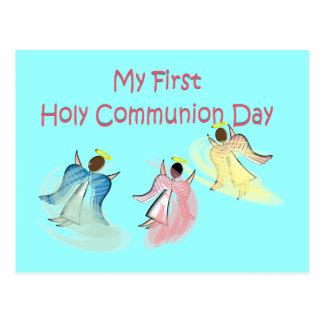 Mis primeros regalos del día de la comunión santa postal