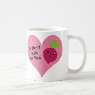 Mis remolachas del corazón para usted taza de café