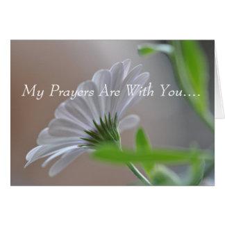 Mis rezos están con usted…. tarjeta de felicitación