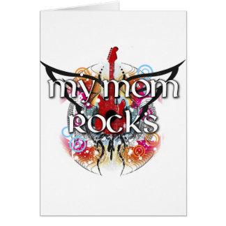 Mis rocas de la mamá tarjeta