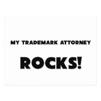¡MIS ROCAS del abogado de la marca registrada! Postal