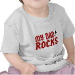 Mis rocas del papá camisetas