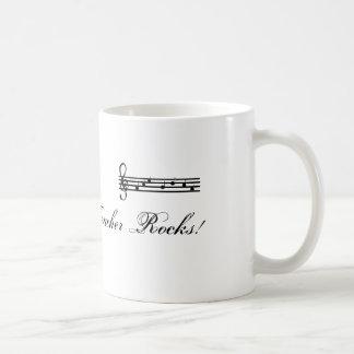 Mis rocas del profesor de música taza de café