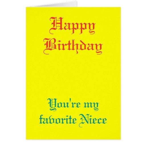 Mis tarjetas de cumpleaños preferidas de la sobrin