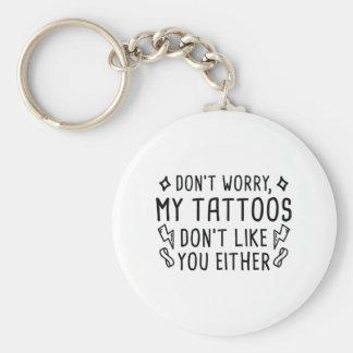 Mis tatuajes llavero