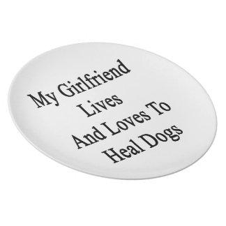 Mis vidas y amores de la novia para curar perros plato de comida