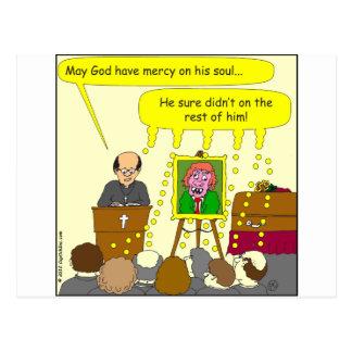 misericordia de 377 entierros en su dibujo animado postal