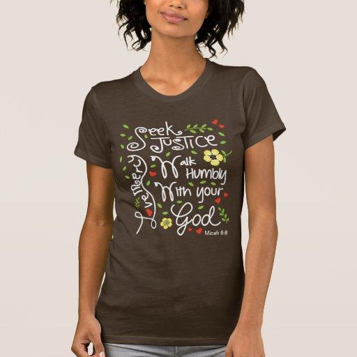 Misericordia del amor de la justicia de la búsqued camisetas