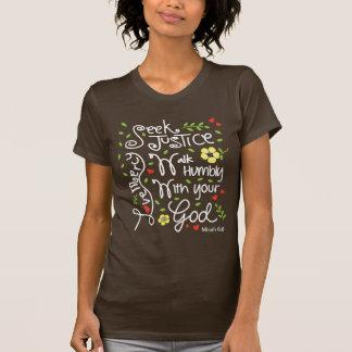 Misericordia del amor de la justicia de la camisetas