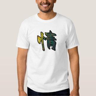 misericordia del arte del kanji camisetas
